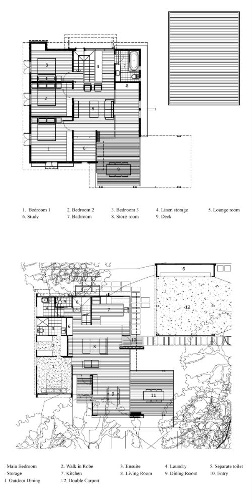 First and Second Floor Plans of Rose Lane