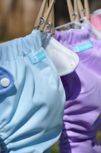 Clean cloth diapers