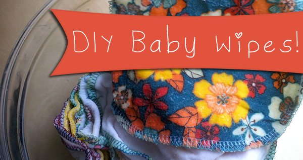 DIY baby wipes banner