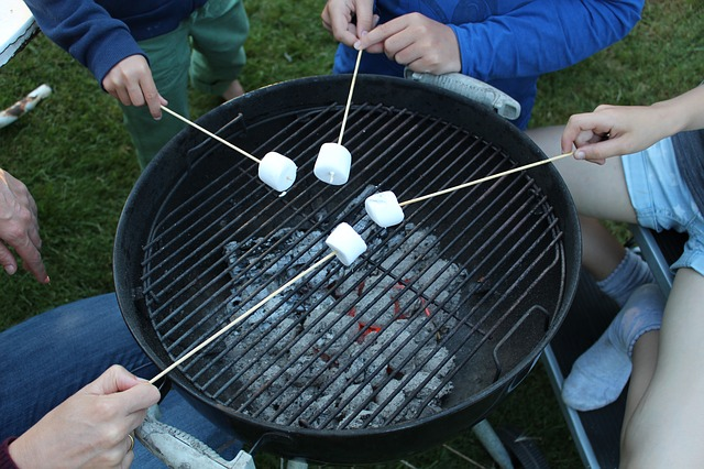 Outside barbecue party