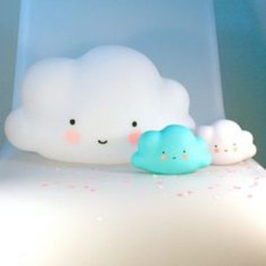 Cool nursery lamps in the form of a cloud