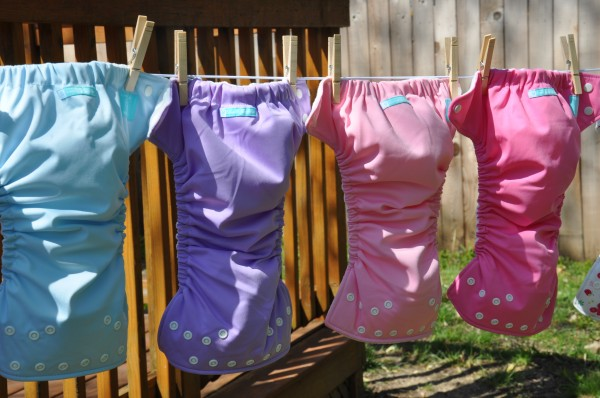 Drying cloth diapers