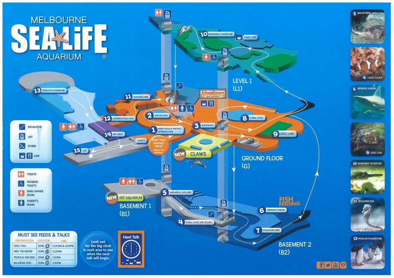Sea Life Melbourne Aquarium map