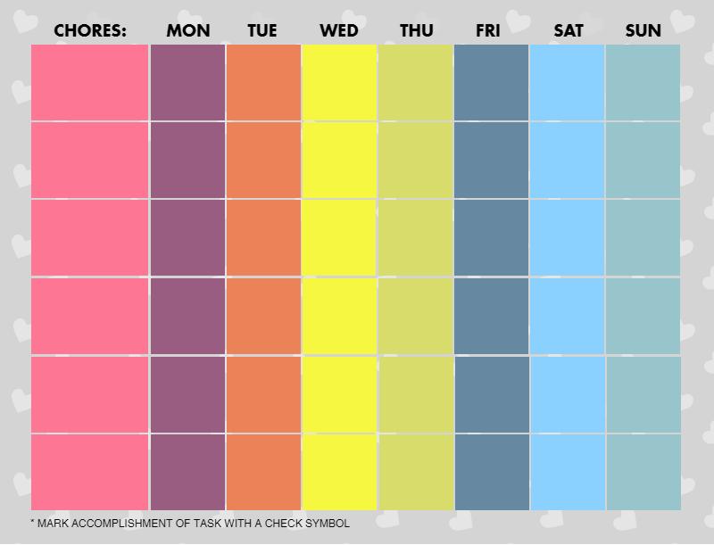 Chore chart half assed