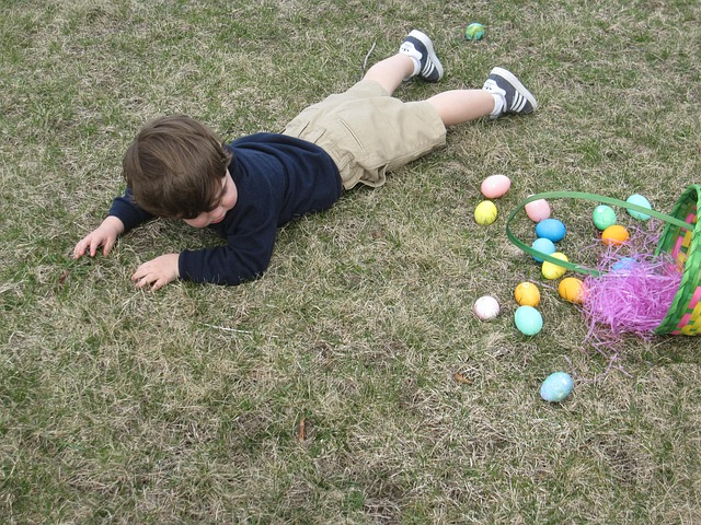 Boy fallen while hunting for Easter eggs