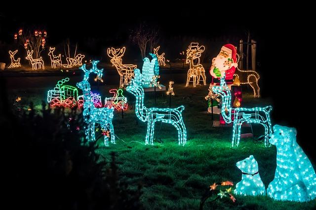 Garden Christmas figurines