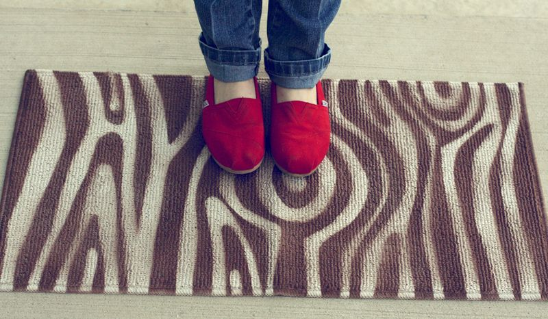 Woodgrain rug